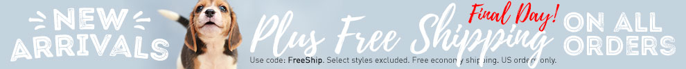 New Arrivals & Free Shipping!