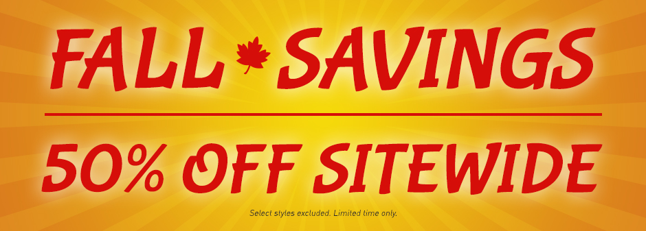 50% Off Sitewide!