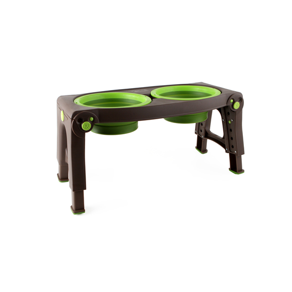 Adjustable Pet Feeder by Popware - Green