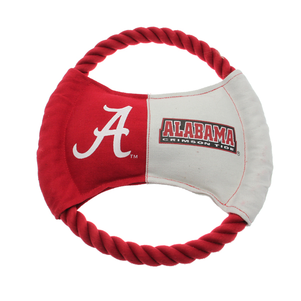 Alabama Crimson Tide Rope Disc Dog Toy