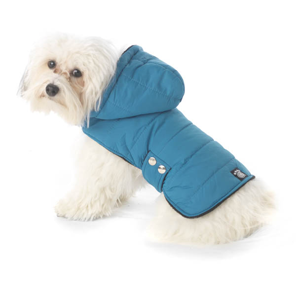 Alberta Quilted Dog Parka - Teal