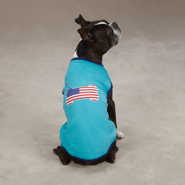 All American Pup Dog T-Shirt - Blue