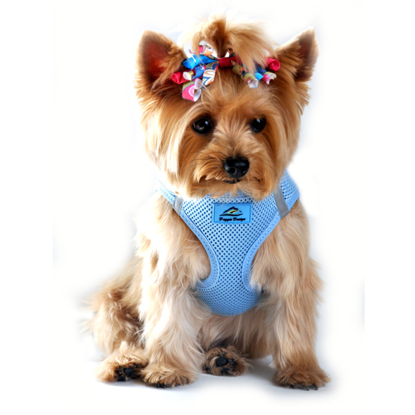 American River Ultra Choke-Free Mesh Dog Harness - Light Blue
