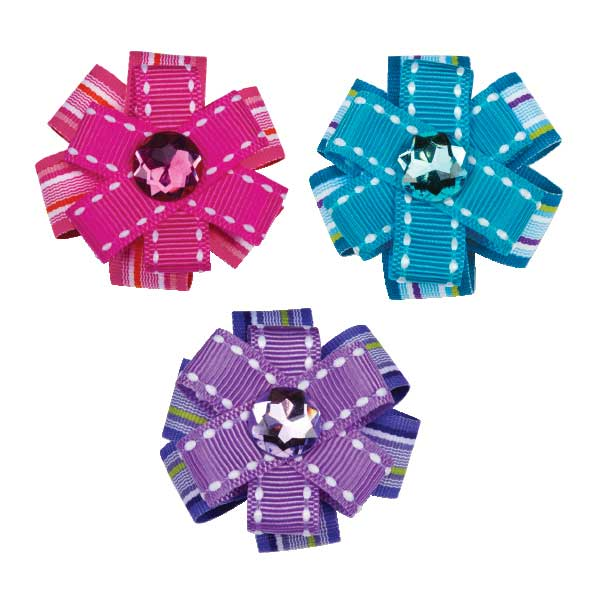 Aria Button Dot Dog Barrette