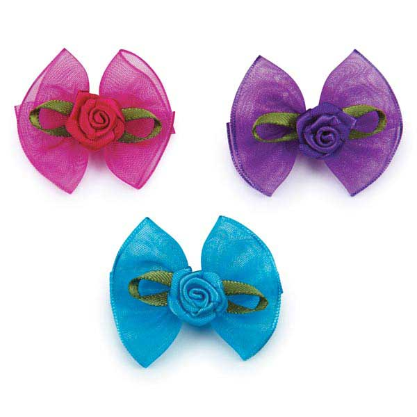 Aria Sunday Rose Dog Bows
