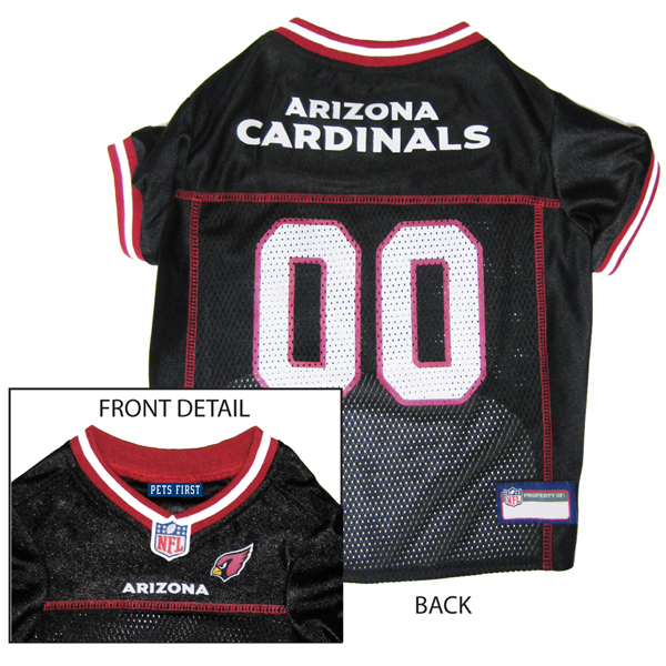 Arizona Cardinals Officially Licensed Dog Jersey - Black