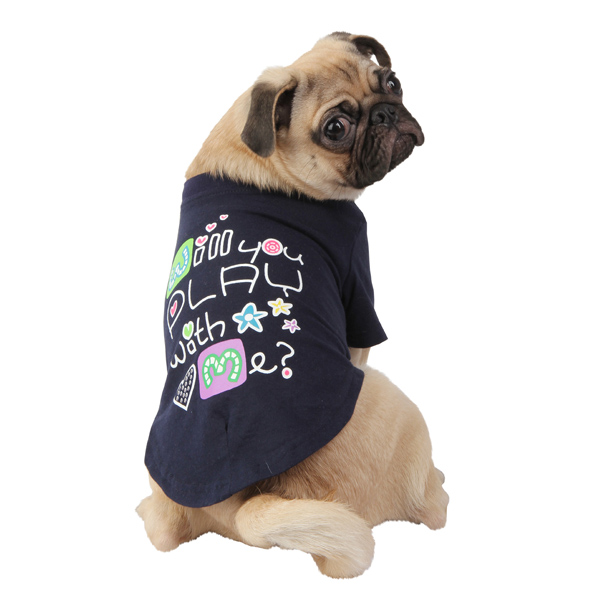 Asking Dog Shirt by Puppia - Navy Blue