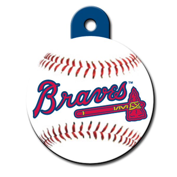 Atlanta Braves Engravable Pet I.D. Tag