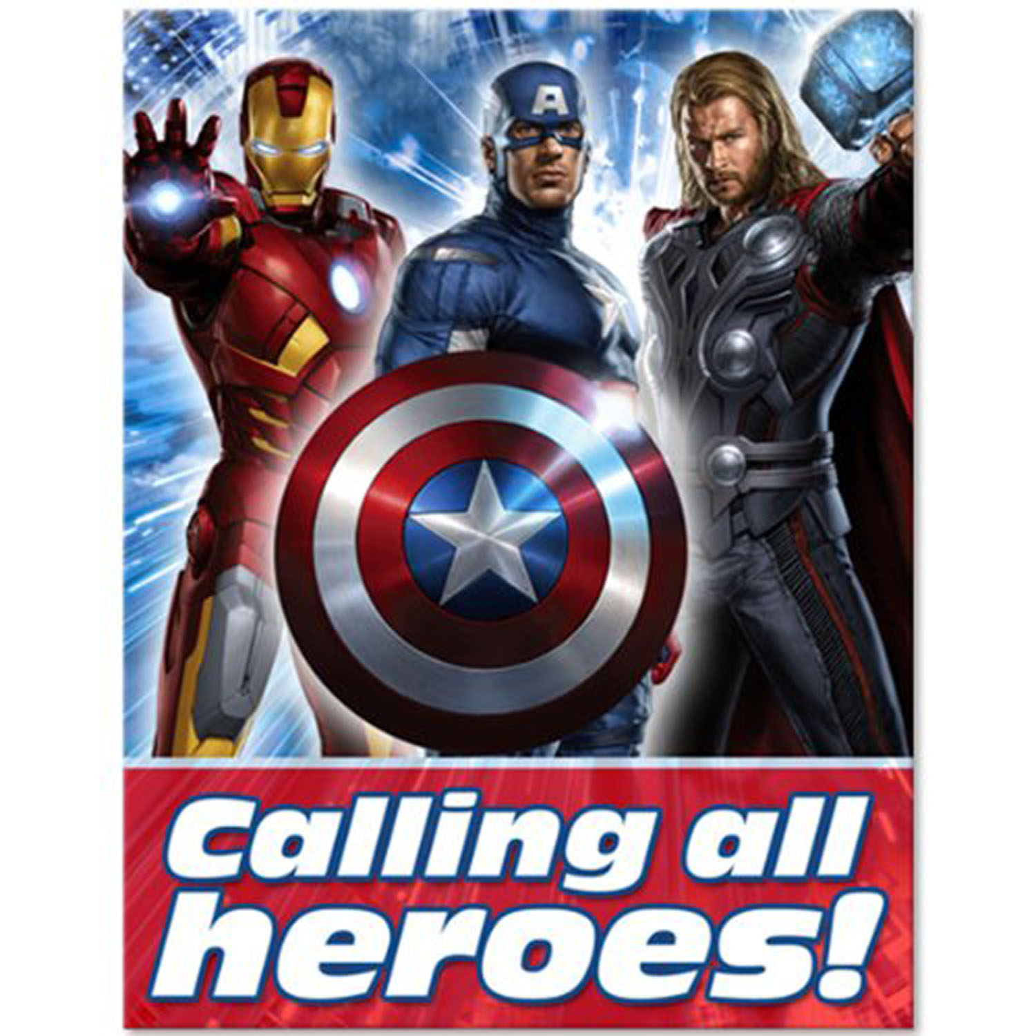 Avengers Party Supplies - Postcard Invitations at ToyStop