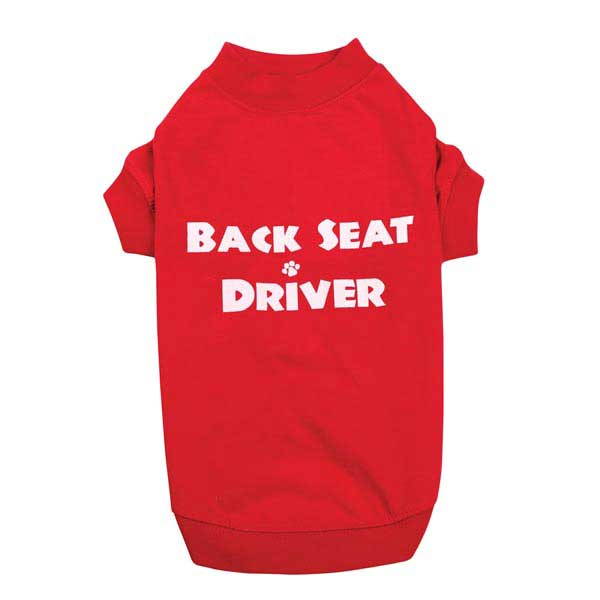 Back Seat Driver Dog T-Shirt - Red