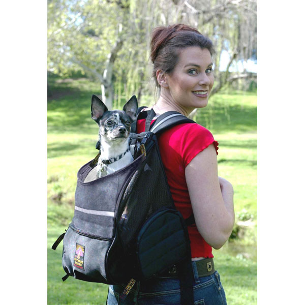 Backpack Style Pet Carrier - Black | BaxterBoo