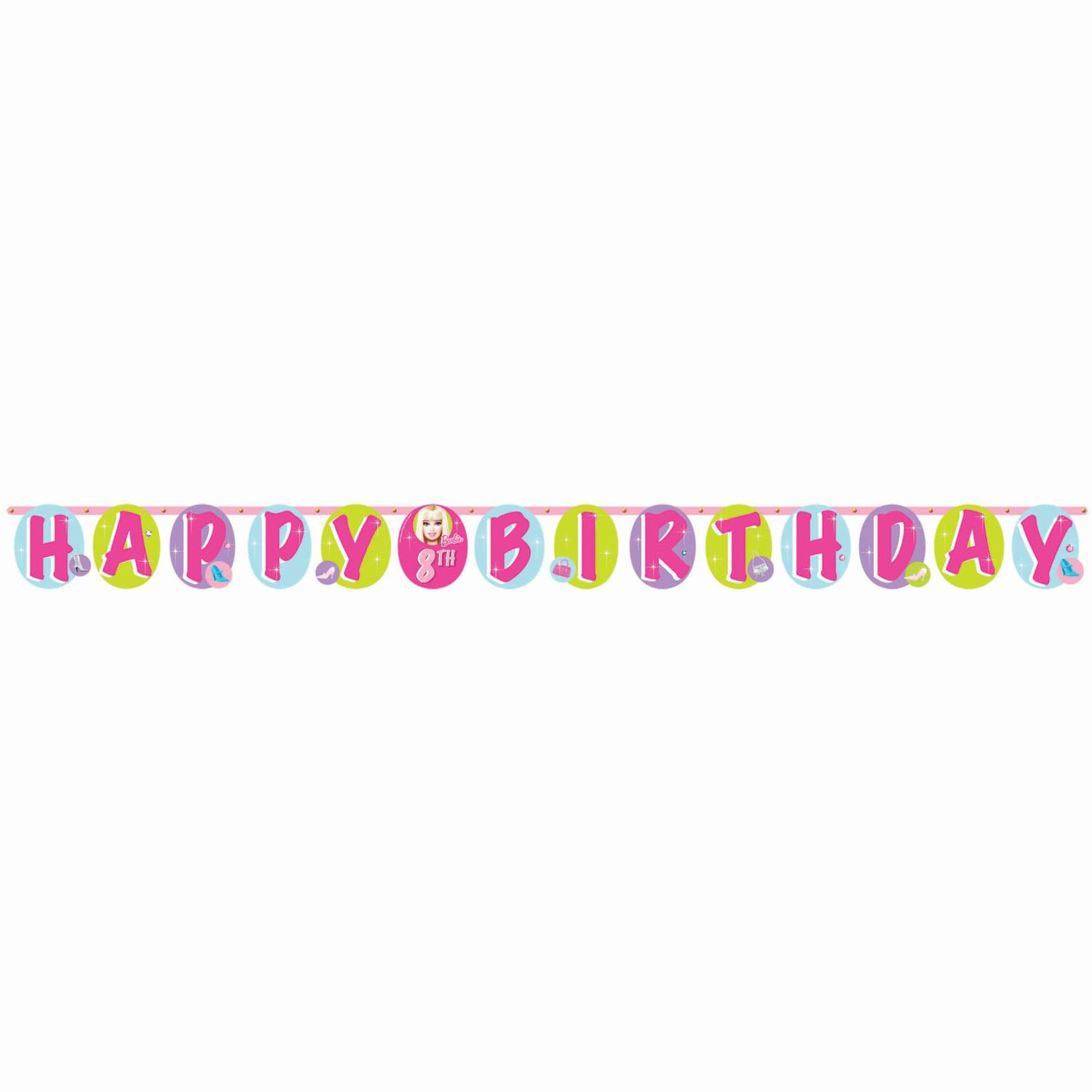 barbie party supplies  all doll'd up addanage birthday banner