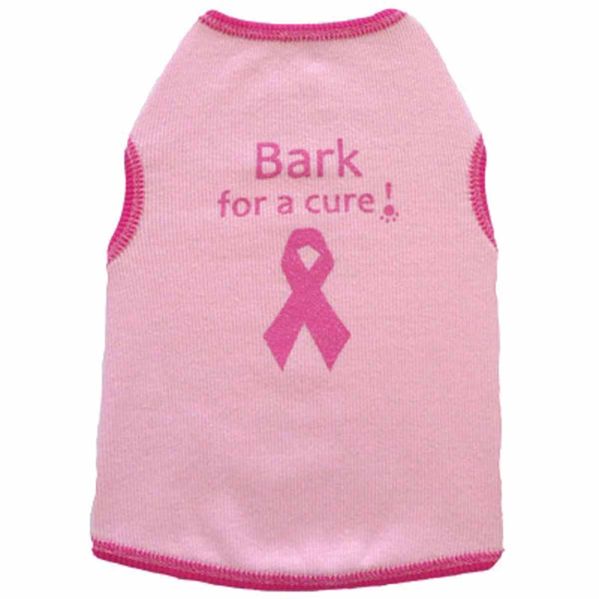 Bark for a Cure Dog Tank Top - Pink