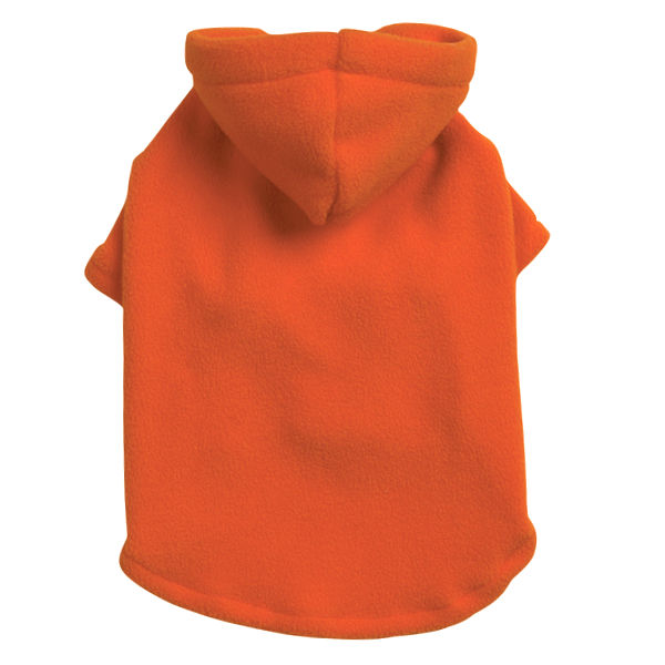 Basic Fleece Dog Hoodie - Orange