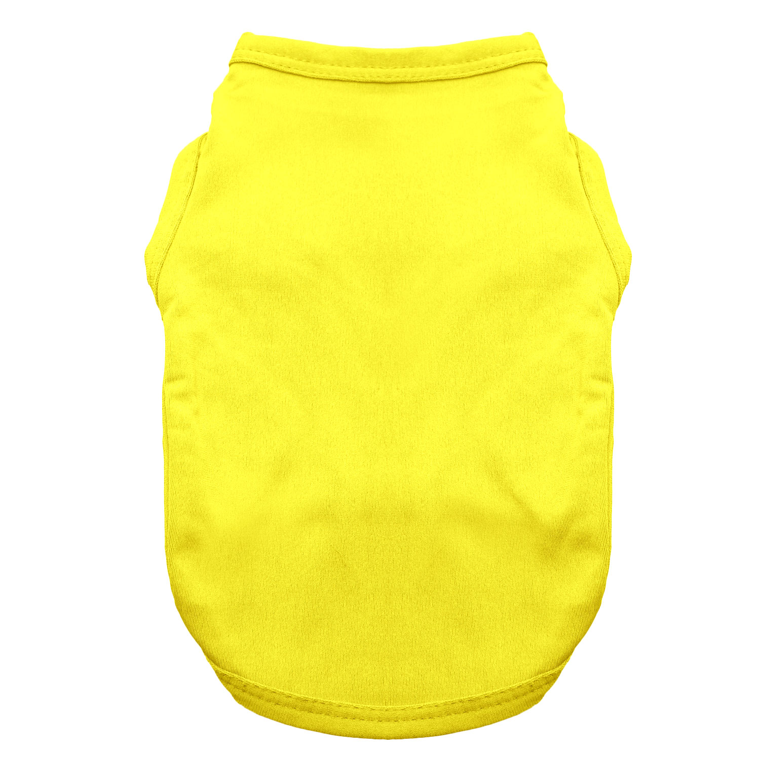 Basic Tank Dog Shirt - Vibrant Yellow