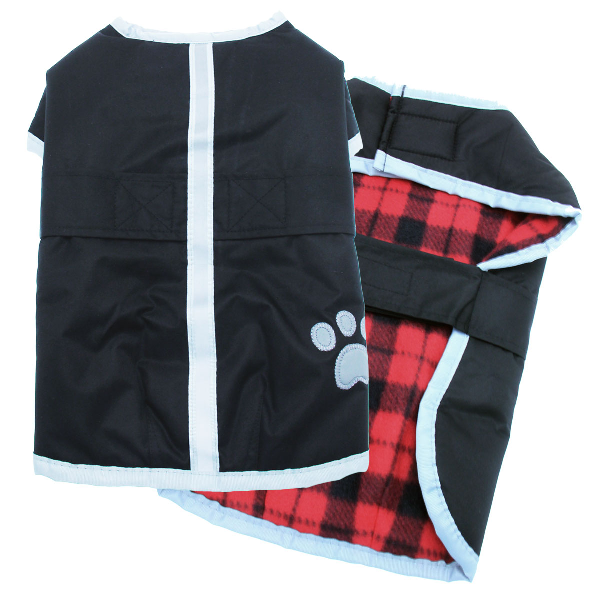 Red And Black Plaid Dog Jacket