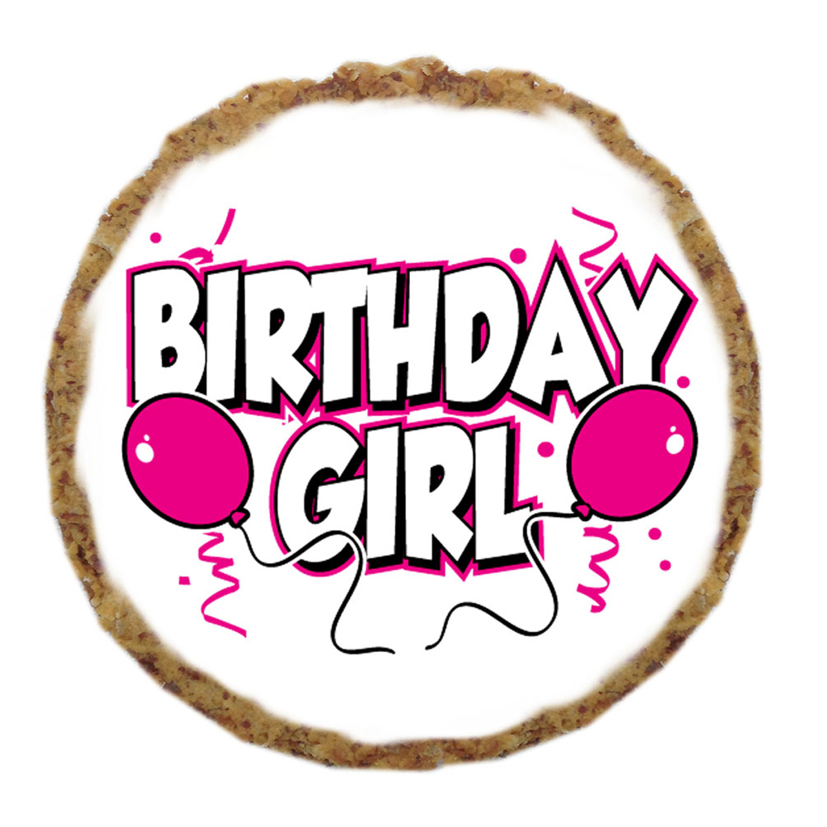 Birthday Girl Dog Treat Cookie With Same Day Shipping
