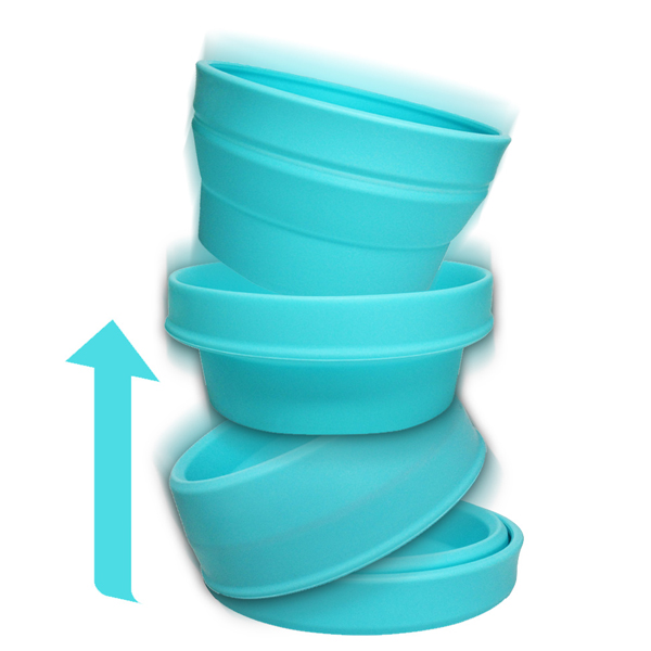 Bliss Paws Collapsible Pet Bowl - Minty Blue