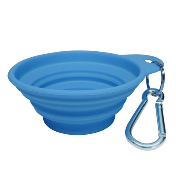 Bliss Paws Collapsible Travel Pet Bowl - Berry Blue