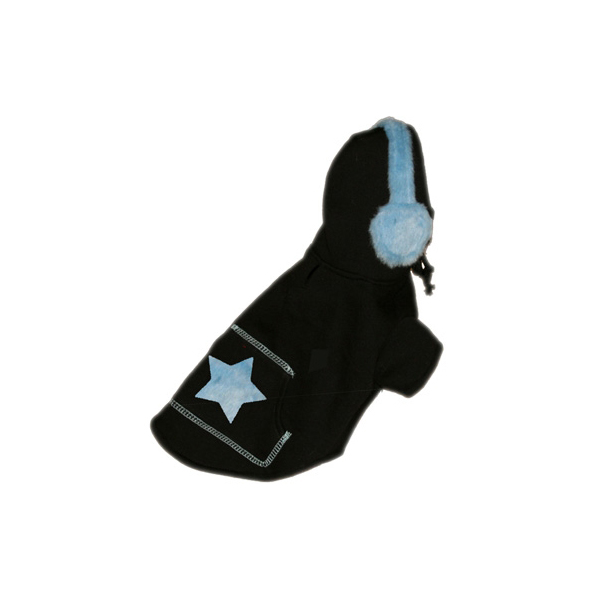 Blue Star Earmuff Hoodie by Hip Doggie