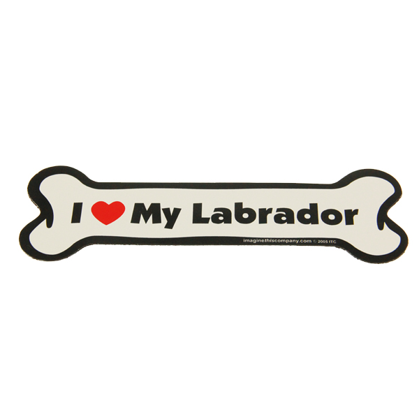 Bone Magnet - I Love My Labrador