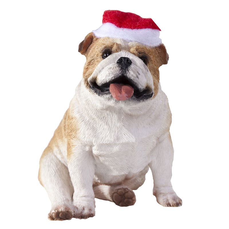 Bulldog Christmas Ornament - Fawn