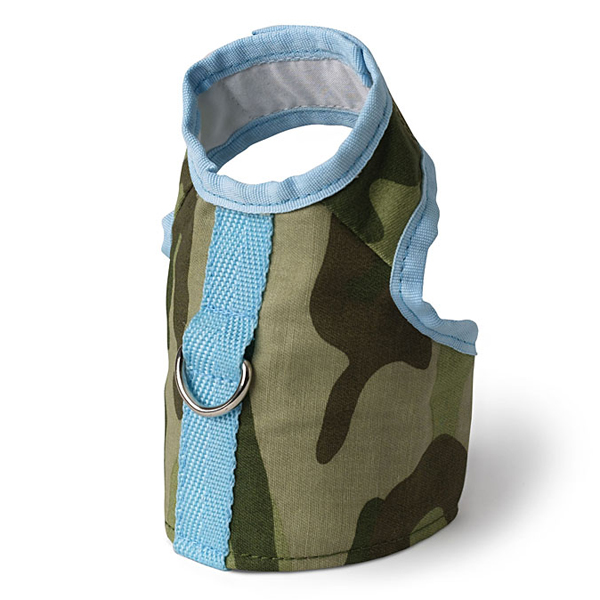Camo Vest Dog Harness by Doggles - Green and Blue