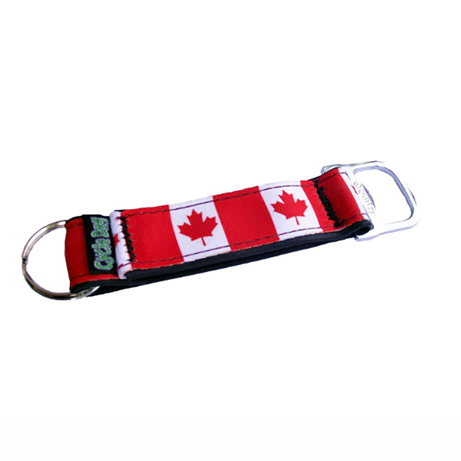canada maple leaf bottle opener key chain by cycle dog with same day shipping baxterboo. Black Bedroom Furniture Sets. Home Design Ideas