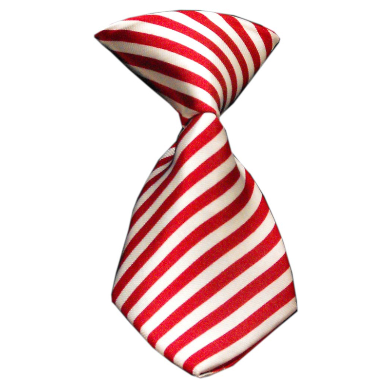 Candy Cane Striped Dog Neck Tie