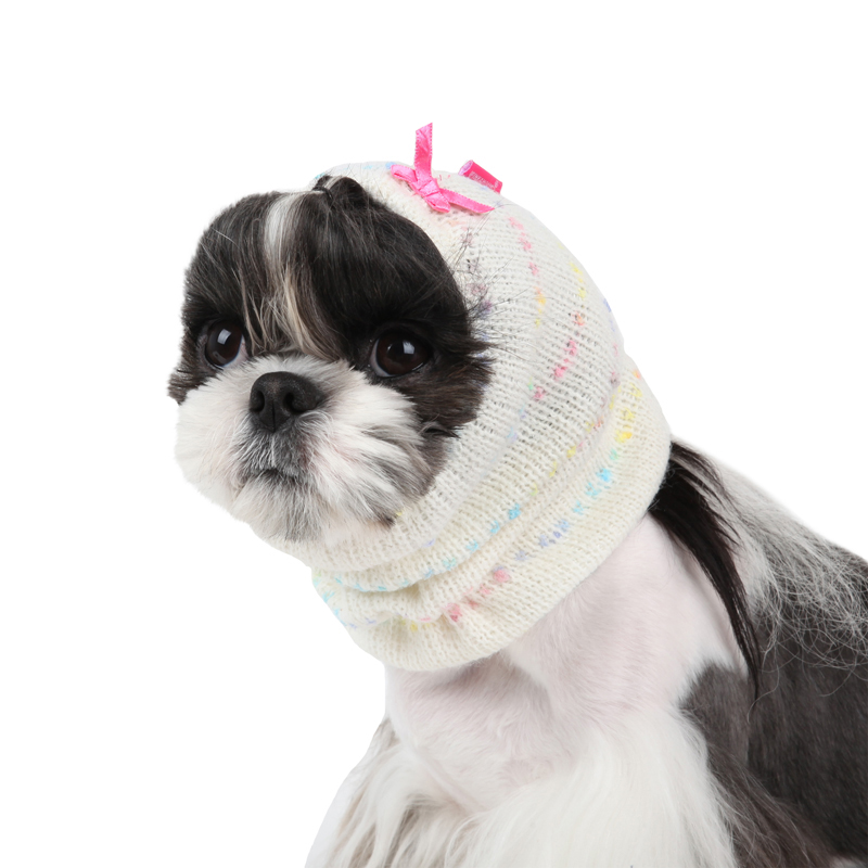 Candy Mist Dog Snood by Pinkaholic - Ivory