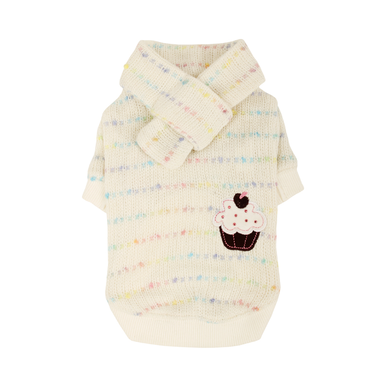 Candy Mist Dog Sweater Set by Pinkaholic - Ivory