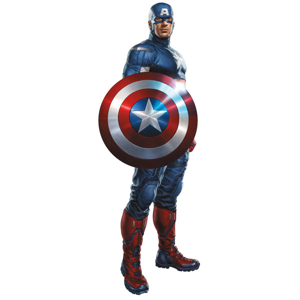 captain america bedroom decor giant avengers wall decal