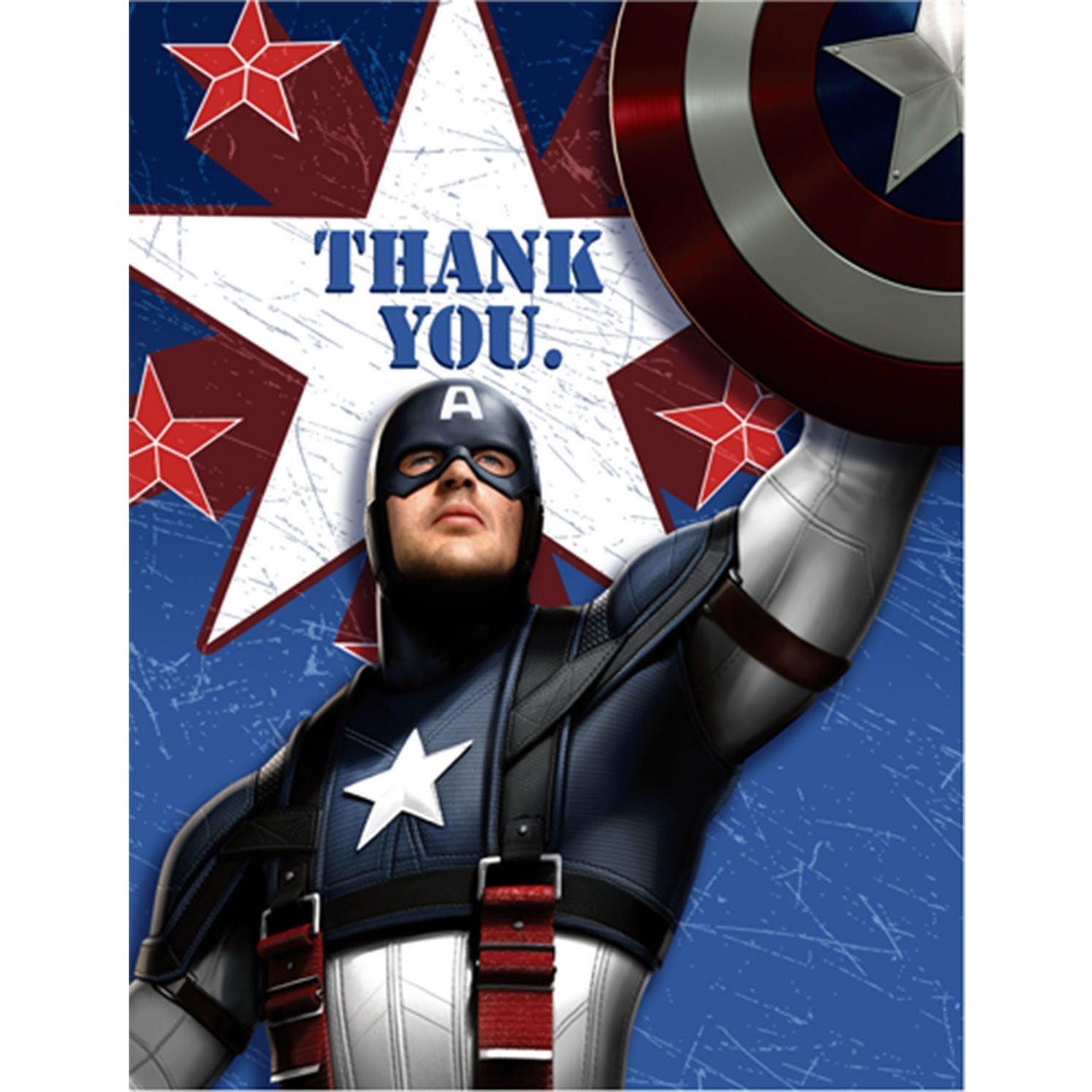 Captain America Party Supplies Postcard Thank You Notes At Toystop