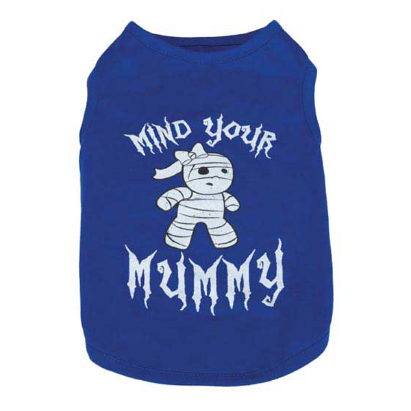 Casual Canine Mind Your Mummy Dog T-Shirt - Blue