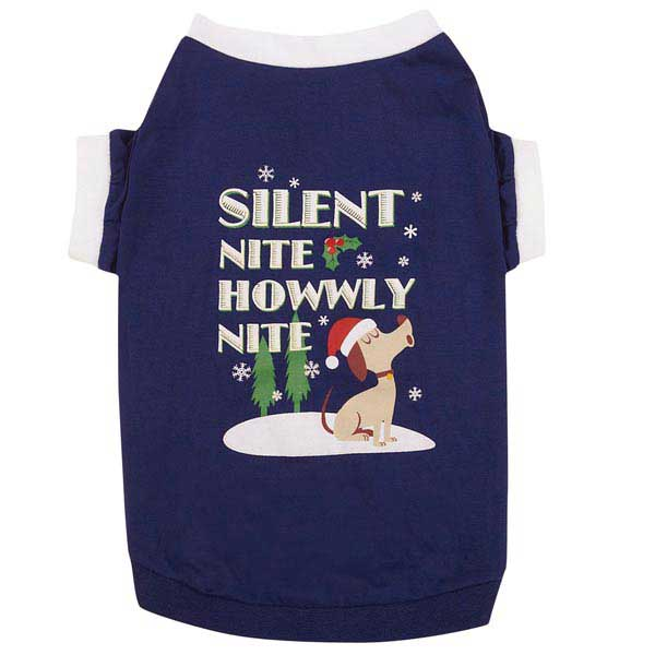 Silent Night Dog T-Shirt - Blue