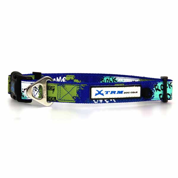 X-treme Game Over Dog Collar - Blue