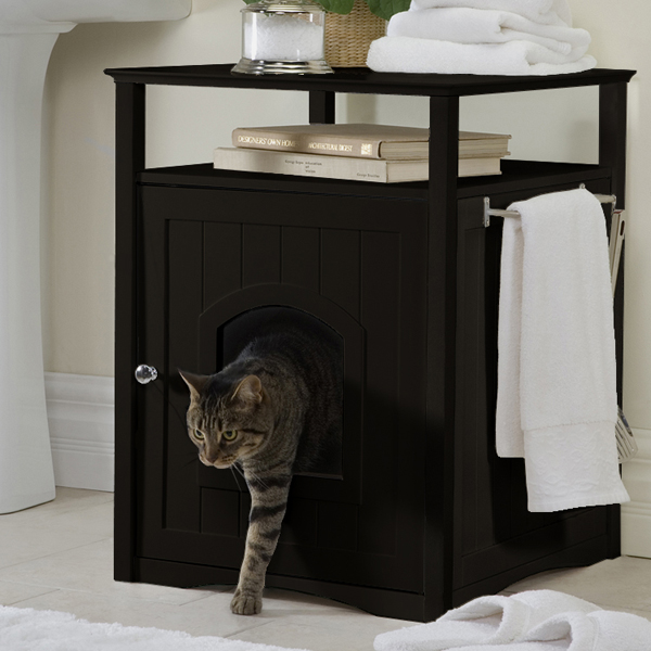 cat washroom and night stand espresso