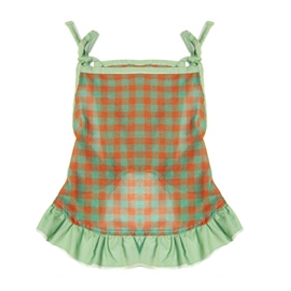 Checkered Dog Dress by Gooby - Green