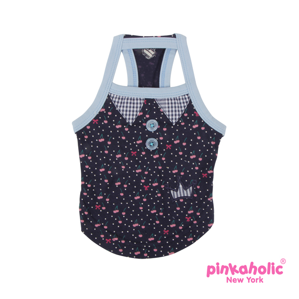 Cherry Berry Dog Tank by Pinkaholic - Blue