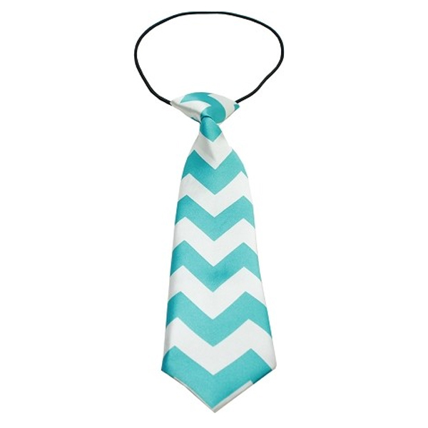 Chevron Big Dog Neck Ties - Light Blue