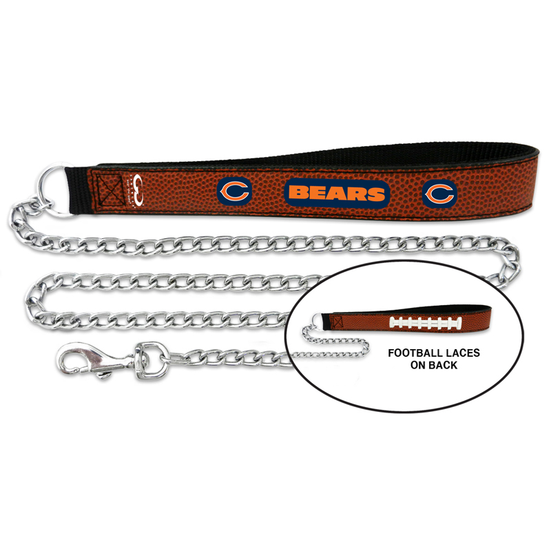 Chicago Bears Leather Dog Leash