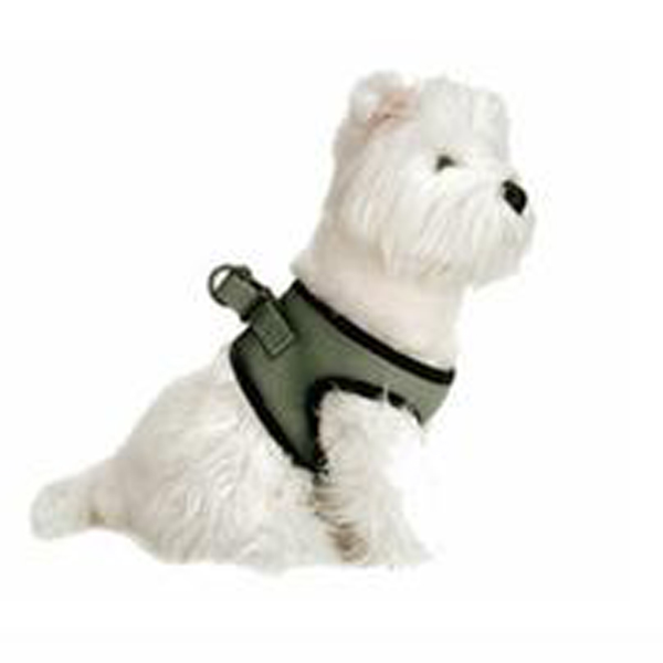 Choke-Free Mesh Step-In Dog Harness - Lily Pad Green