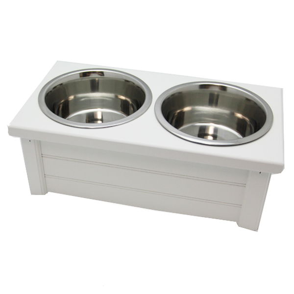 Classic Beadboard Double Dog Diner - White