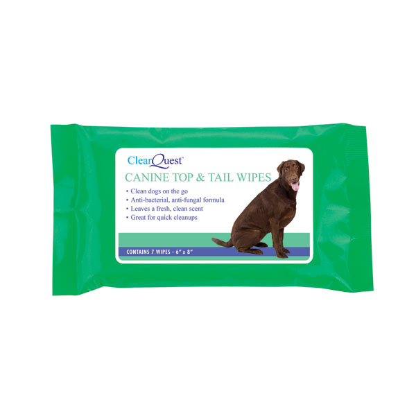 ClearQuest Canine Top & Tail Wipes