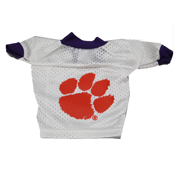 Clemson Tigers White Dog Jersey - Big Paw