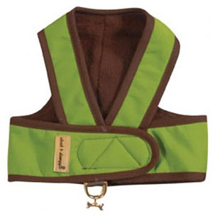Cloak & Dawggie Step-N-Go Fleece Lined Harness - Citron Green