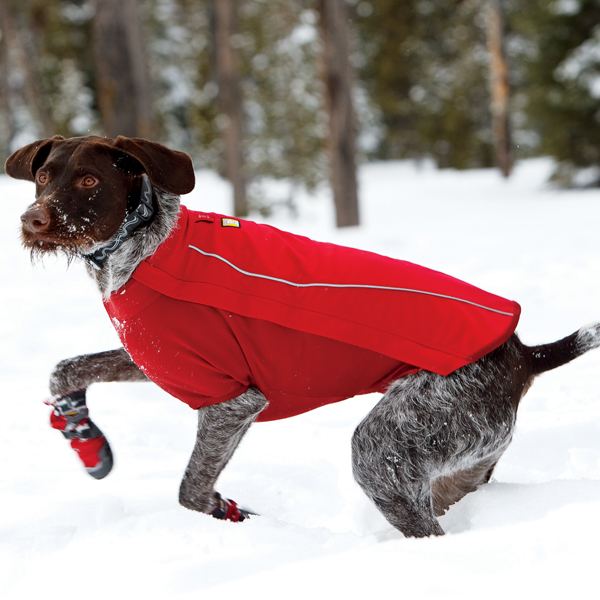 Cloud Chaser Soft Shell Dog Jacket by RuffWear - Red Rock