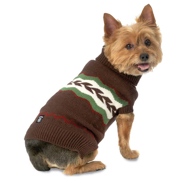 Colby's Winter Fair Isle Dog Sweater - Brown