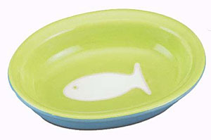 Color Block Cat Bowl - Green