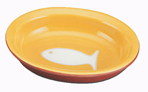Color Block Cat Bowl - Yellow